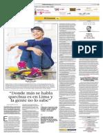Donde Más Se Habla Quechua Es en Lima y La Gente No Lo Sabe
