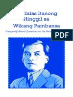 Madalas itanong hinggil sa Wikang Pambansa (FAQs on the National Language)