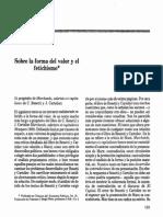 Sobre a Forma Valor Eo Fetichismo Ruy Fausto