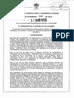 Decreto 442 Sistema de Identificacion de Ganado Bovinp