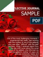 Reflective Journal Sample 2
