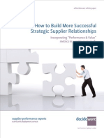 White Paper - Building Successful Supplier Relationships