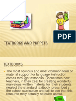 textbooks and puppets