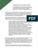 Estudio de Competencias Docentes en Programa de Maestría