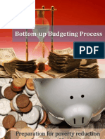 Bottom-up Budgeting Process
