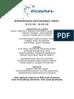 Ocean Restaurant Week 2014
