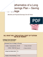 the mathematics of a long term savings plan  saving for college