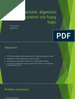 Anaerobic Digestion System Control via Fuzzy Logic