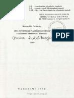 Opis Deformacji Plastycznej Metali z Efektami Mikropasm Ścinania