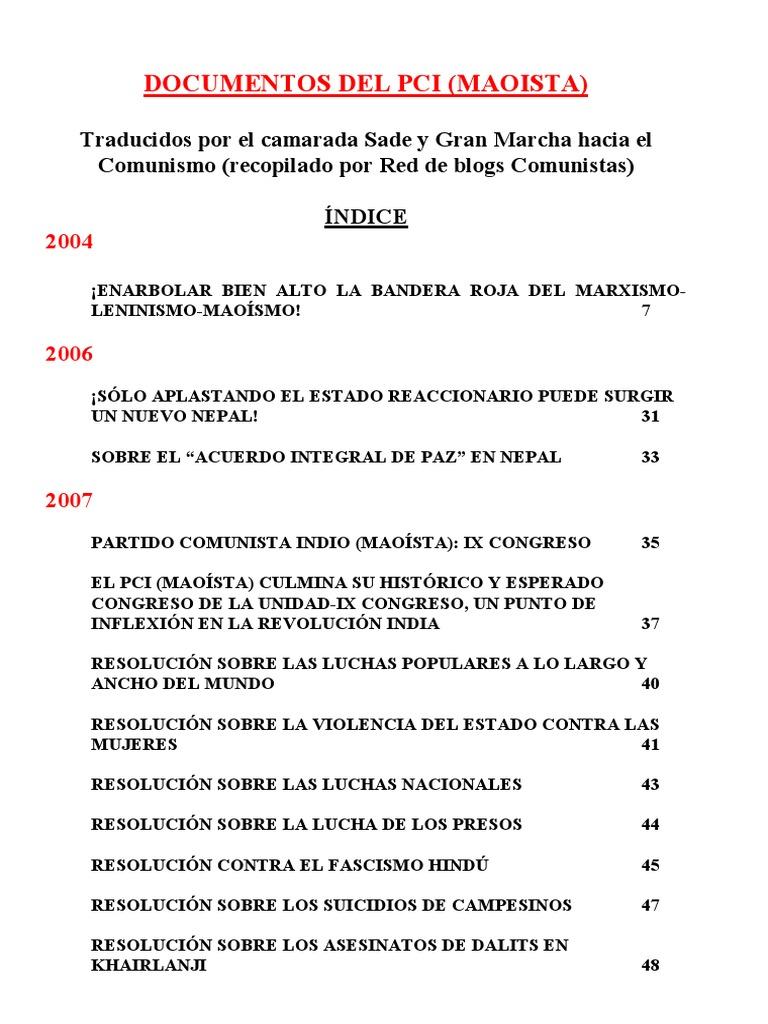 Documentos Del PCI (Maoísta)