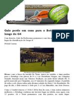 Belo Vence Galo Por 1 a 0 No PV e Fica No G4 Da Série C Com Quarta Vitória No Brasileiro