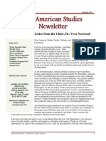 Department of American Studies 2014 Newsletter