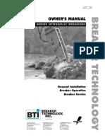 Rock Breaker Operation Manual
