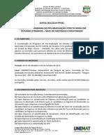 EDITAL Mestrado e Doutorado 2014-2015 UNEMAT
