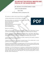 Spaceport America Reg. Spaceport Dist.- June 27, 2014 Draft Min.