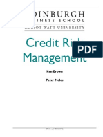 Credit Risk Management Principles