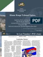 Khmer Rouge Tribunal Update