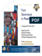 """""""From Governance to Peacekeeping"""" (English)"""