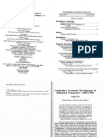 Cambodia's Economic Development in Historical Perspective (1953-1970)