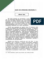 Alfredo Bosi - A Pós-graduação Em Literatura Brasileira
