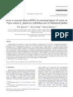 Role of ethylene diurea (EDU) in assessing impact of ozone onVigna radiata L. plants in a suburban area of Allahabad (India)