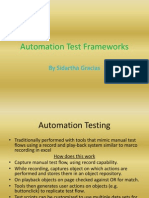 Automation Test Frameworks