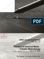 Playback of Grooved Media