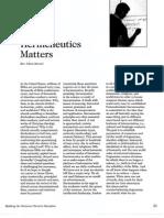 2007 Issue 3 - Hermeneutics Matters - Counsel of Chalcedon
