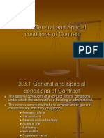 Generral and Special Conditions of Contract