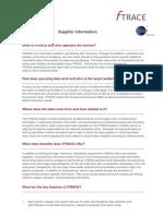 GS1 FTRACE Supplier Information Meat En