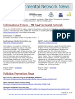 Michigan Environmental Network News August 11, 2014