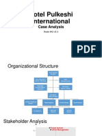 Hotel Pulkeshi International Case Analysis