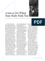 2007 Issue 6 - What to Do When Your Body Fails You - Counsel of Chalcedon