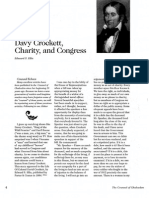 2008 Issue 1 - Davy Crockett, Charity, and Congress - Counsel of Chalcedon