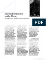 2008 Issue 1 - Excommunication in the Home - Counsel of Chalcedon