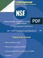 Presentation by Mr. Edward Wyszumiala General Manager NSF International