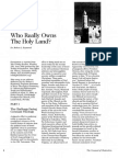 2008 Issue 2 - Who Really Owns the Holy Land? - Counsel of Chalcedon
