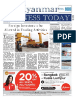 Myanmar Business Today Vol 2, Issue 32