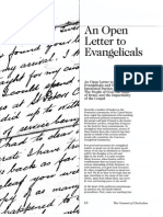 2008 Issue 3 - An Open Letter to Evangelicals - Counsel of Chalcedon