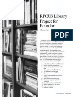2008 Issue 4 - RPCUS Library Project for Ecuador - Counsel of Chalcedon