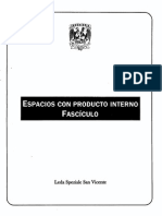 Algebra Lineal Fasciculo Producto Interno