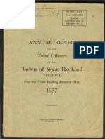 West Rutland Town Report 1937