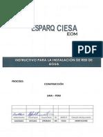CON 003-Is-I01 Instructivo Instalacin Red de Agua v00