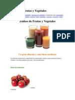 Zumos de Frutas y Vegetales