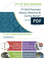 FY2015 Proposed Budget Presentation