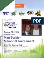 Matt Stabler Memorial Tournament Brochure