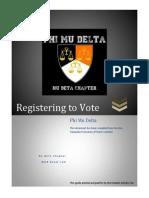 Phi Mu Delta Registering to Vote Guide