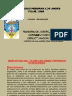 Filosofia Del Diseño, Fallas Mas Comunes y Criterios de Estructuracion y Diseño