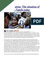 Discrimination the Situation of Sri Lanka Tamils Today
