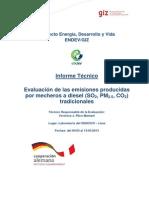 Evaluación de Emisiones de Mecheros Diésel - 2013